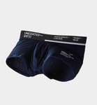 UNCOATED 247</br>BOXER BRIEFS-LOW RISE BLACK NAVY