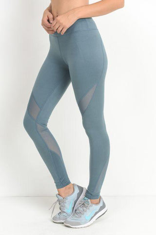 Image of Slanted Wrap Mesh Full Leggings