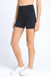 High Waist Active Shorts Feature Flattering Accents - LeggingsHut
