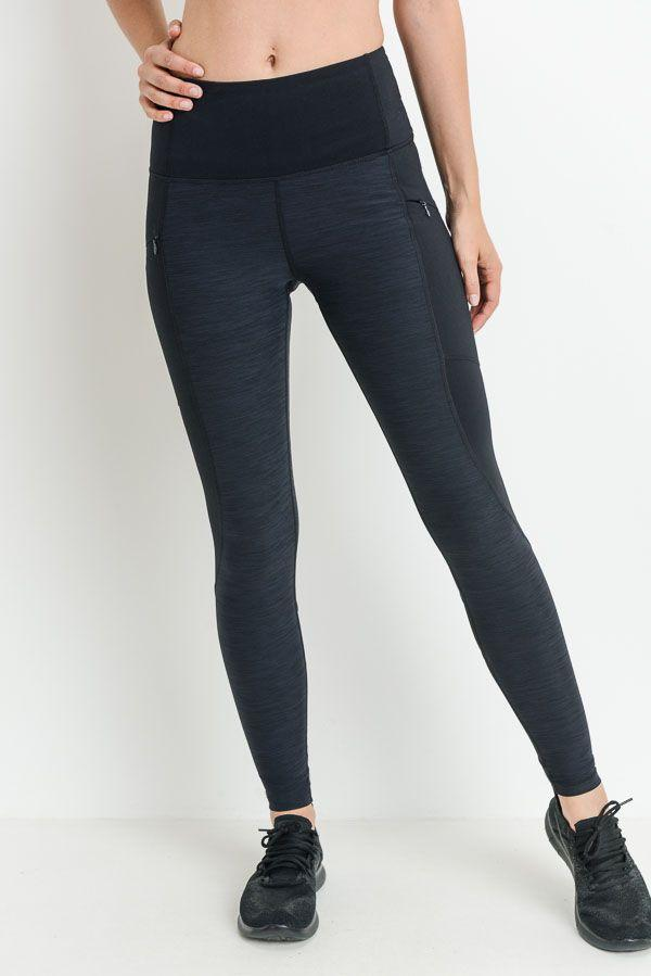 Highwaist Brushed Opal Zipper Pocket Leggings PREORDER - LeggingsHut