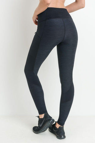 Image of Highwaist Brushed Opal Zipper Pocket Leggings PREORDER - LeggingsHut