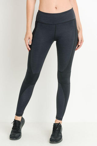 Image of Highwaist Brushed Monochrome Wraparound Full Leggings PREORDER - LeggingsHut