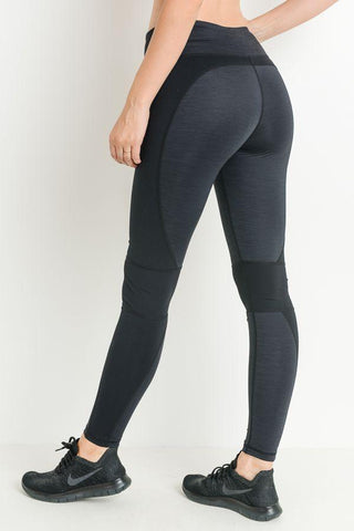 Highwaist Brushed Monochrome Wraparound Full Leggings PREORDER - LeggingsHut
