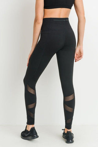 Image of Highwaist Ziggy Zag Pocket Full Leggings PREORDER - LeggingsHut