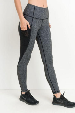 Image of Highwaist Helix Trellis Mesh Leggings
