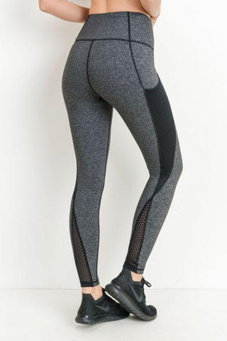 Highwaist Helix Trellis Mesh Leggings
