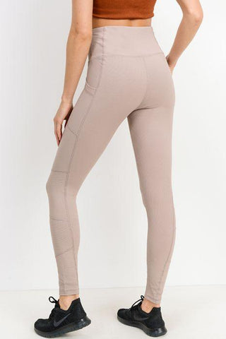 Highwaist Essential Ribbed Leggings with Pockets