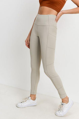 Image of Highwaist Essential Ribbed Leggings with Pockets