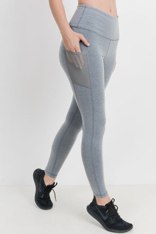 Image of Highwaist Essential Leggings with Mesh Pockets