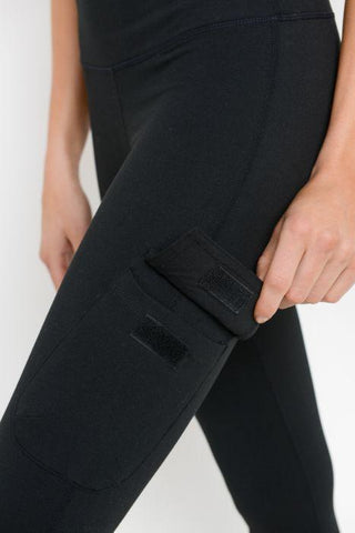 Highwaist Cargo Leggings with Velcro Pockets