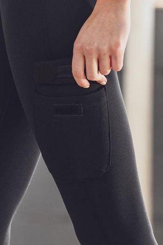 Image of Highwaist Cargo Leggings with Velcro Pockets