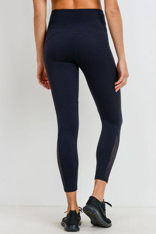 Image of Perforated Panel Highwaist Performance Leggings