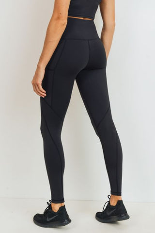 Image of Solid & Slanted Panels Highwaist Leggings