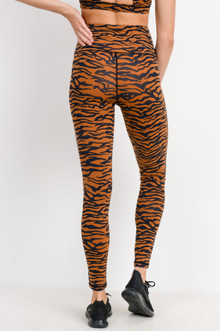 Image of Tiger Print Highwaist Leggings