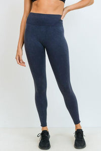 Ribbed & Dotted Seamless Mineral Wash Sweetheart Highwaist Leggings