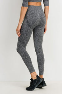 Dot Textured Seamless Highwaist Leggings