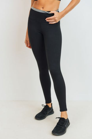 Diamond Jacquard Block Highwaist Leggings