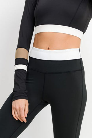 Image of Half n Half Band Colorblock Highwaist Essential Leggings