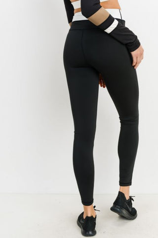 Half n Half Band Colorblock Highwaist Essential Leggings