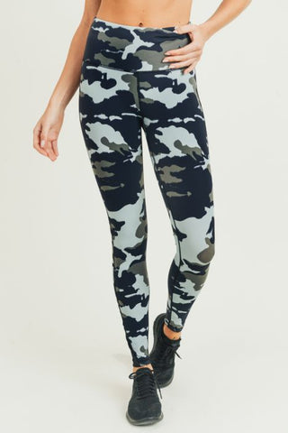 Image of Jungle Camo Criss-Cross Strap Highwaist Leggings