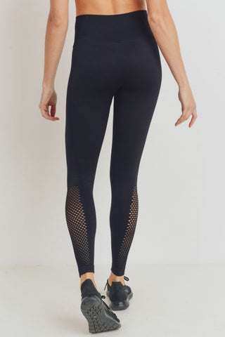 Ribbed and Perforated Seamless Highwaist Leggings