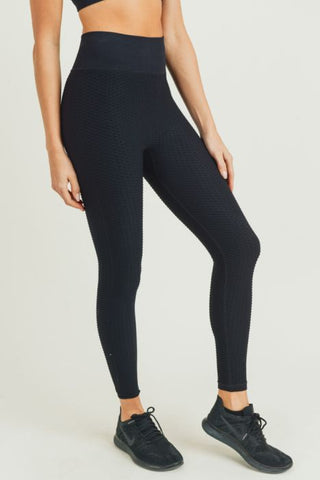 Image of Jacquard & Ribbed Seamless Highwaist Leggings