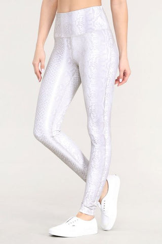 Pale Snake Print Highwaist Leggings
