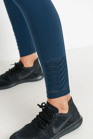Image of Highwaist Origami Mesh Full Leggings