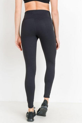 Image of High Waist Laser Cut Ripped Knee Leggings