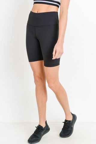 Image of Highwaist Solid Short Leggings