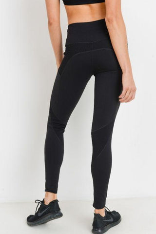 Ribbed & Smooth Combo Highwaist Leggings