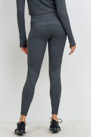 Image of Ribbed & Smooth Combo Highwaist Leggings