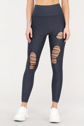 Distressed Seamless Highwaist Leggings
