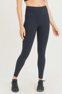 Textured Houndstooth Jacquard TACTEL® Highwaist Leggings