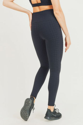 Image of Textured Houndstooth Jacquard TACTEL® Highwaist Leggings