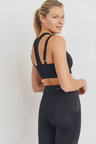Image of Harness Mesh Hybrid Racerback Sports Bras