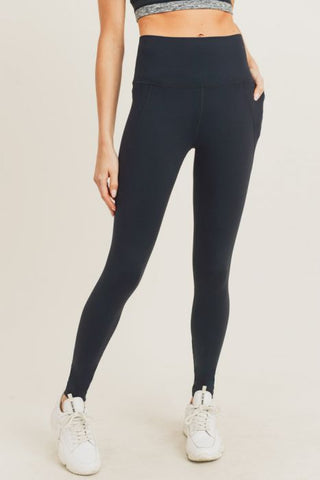 Tapered Band Essential Solid Highwaist Leggings