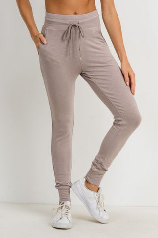 Image of Highwaist Slim-Fit Cuffed Joggers