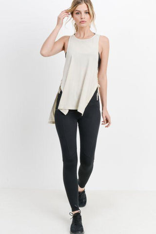 Image of Highwaist Essential Leggings with Zippered Side Pockets