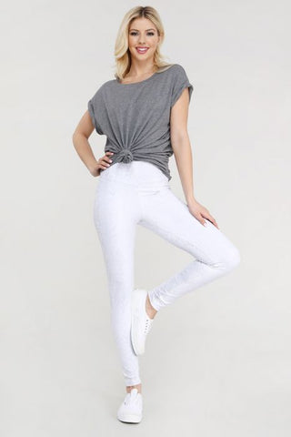 Image of Greyscale Snake Print Highwaist Leggings