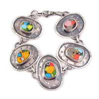 Sterling Silver and Glass Bracelet (k)
