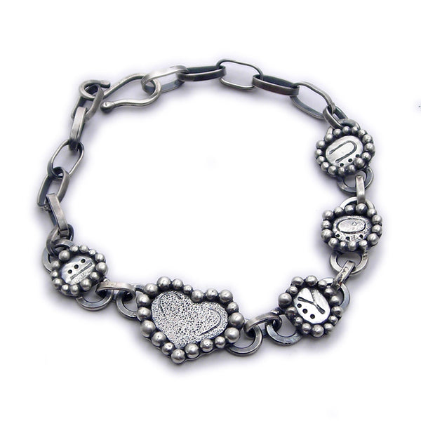 "Sterling Silver ""I Love You"" Bracelet (r) - Custom"
