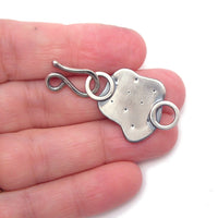 Decorative Sterling Silver Hook and Eye Clasp and Link - b