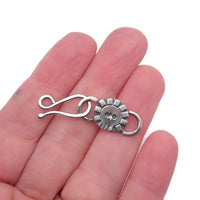 Decorative Sterling Silver Skull Hook Clasp and Link - f