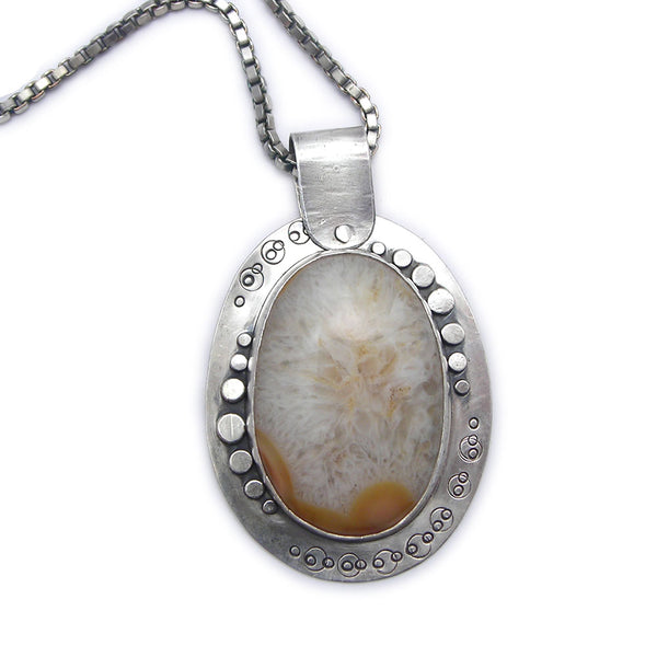 Sterling Silver and Quartz Pendant (t)