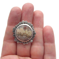 Crazy Lace Agate Ring (j) - (adjustable)
