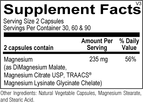 Magnesium Trio (Substituted For: Magnesium Buffered Chelate)