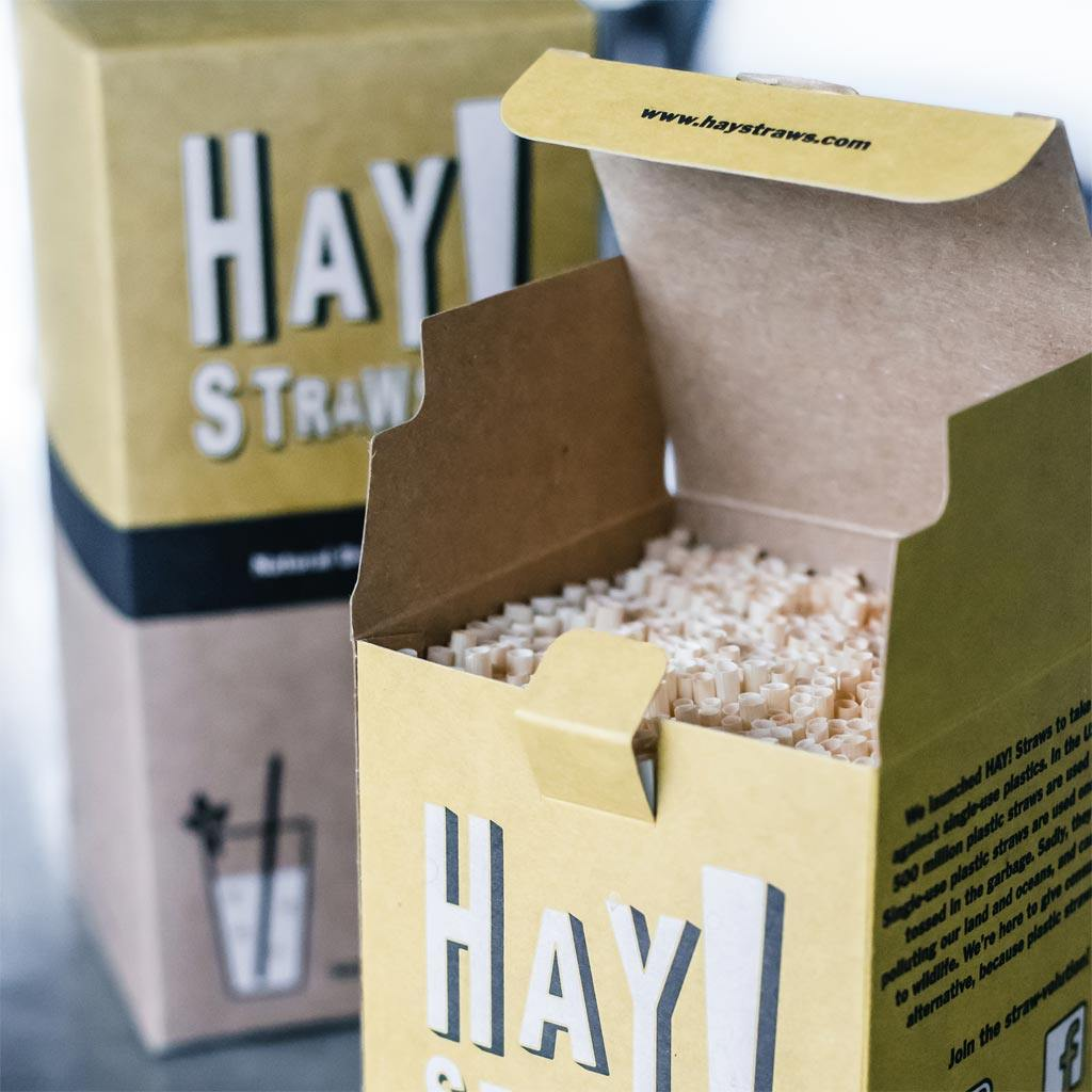 500 box of sustainable tall size hay straws