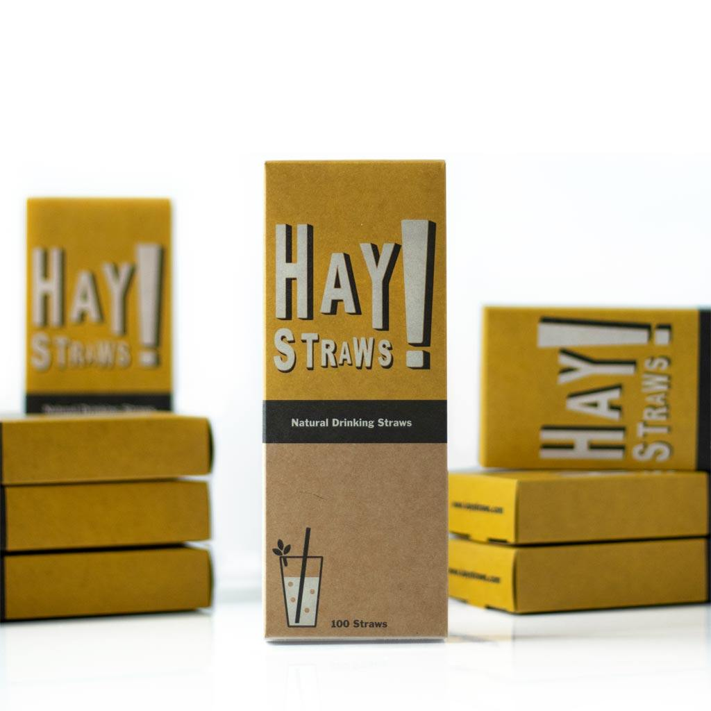 100 box of sustainable tall size wheat straws