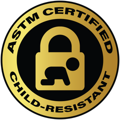 Example of ASTM Certification Label for Child-Resistant Products